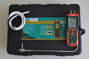 Pilot Tube Anemometer + Differential (เครื่องวัดระบบอัดอากาศในบันไดหนีไฟ)